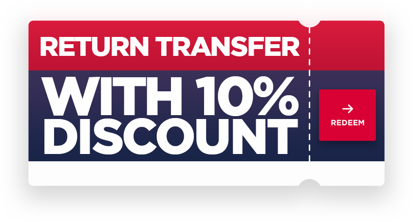 Return transfer with 10% discount