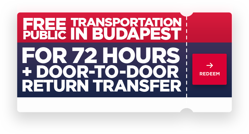 Free public transportation in Budapest for 72 hours + door-to-door return transfer